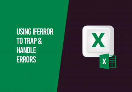 Using iferror in Excel