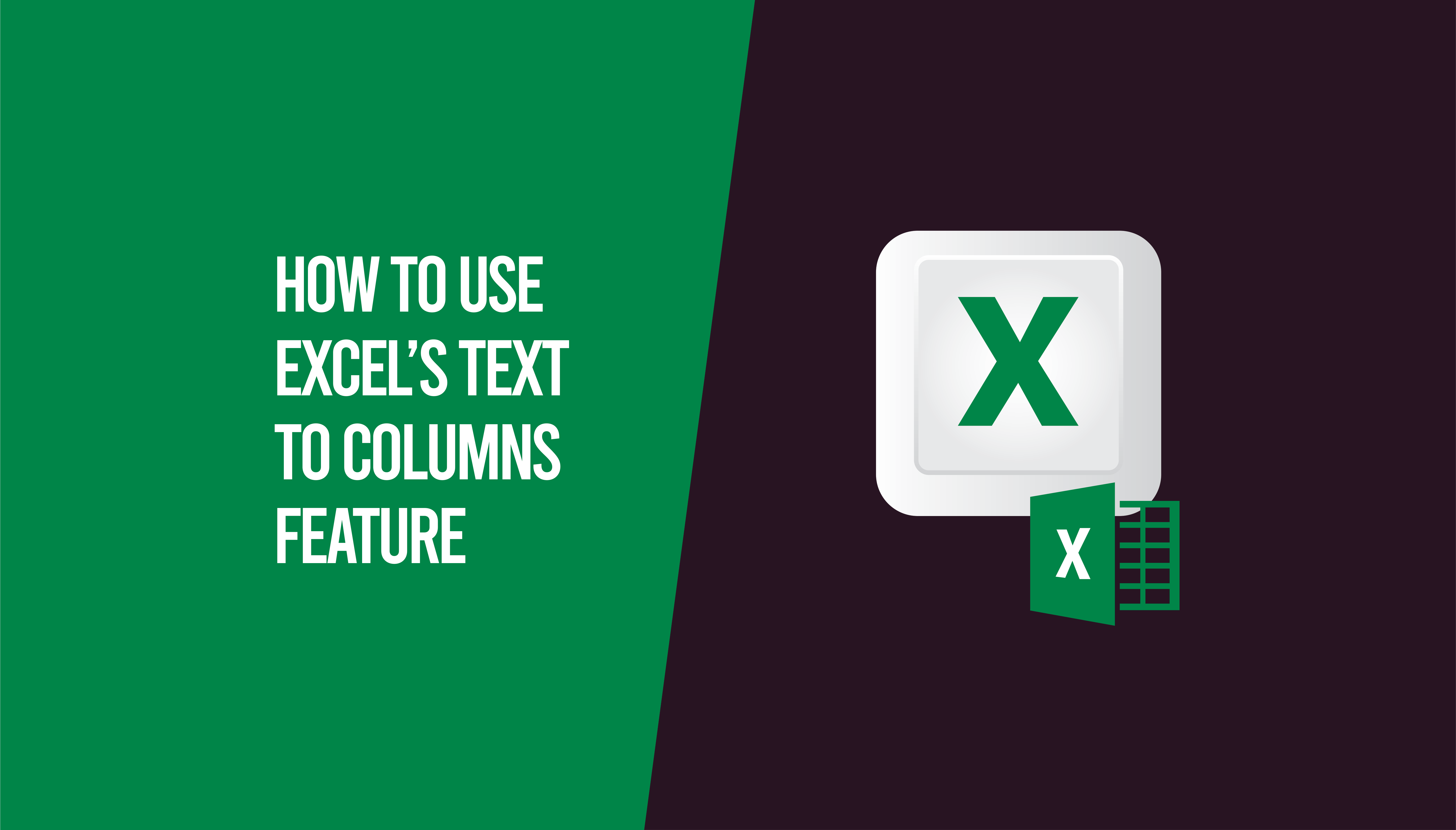 text to columns