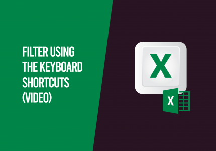 filter using keyboard shortcuts