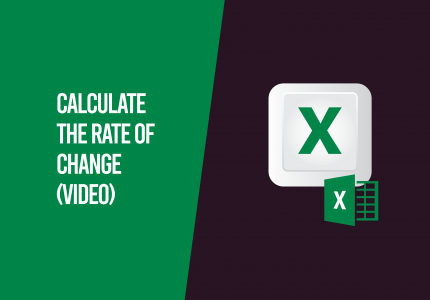 Rate of change Excel Video