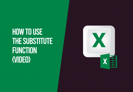 substitute function excel